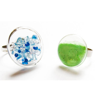 Jewellery Make Your Own Crystal and Glow in the Dark Rings Earth Fairy
