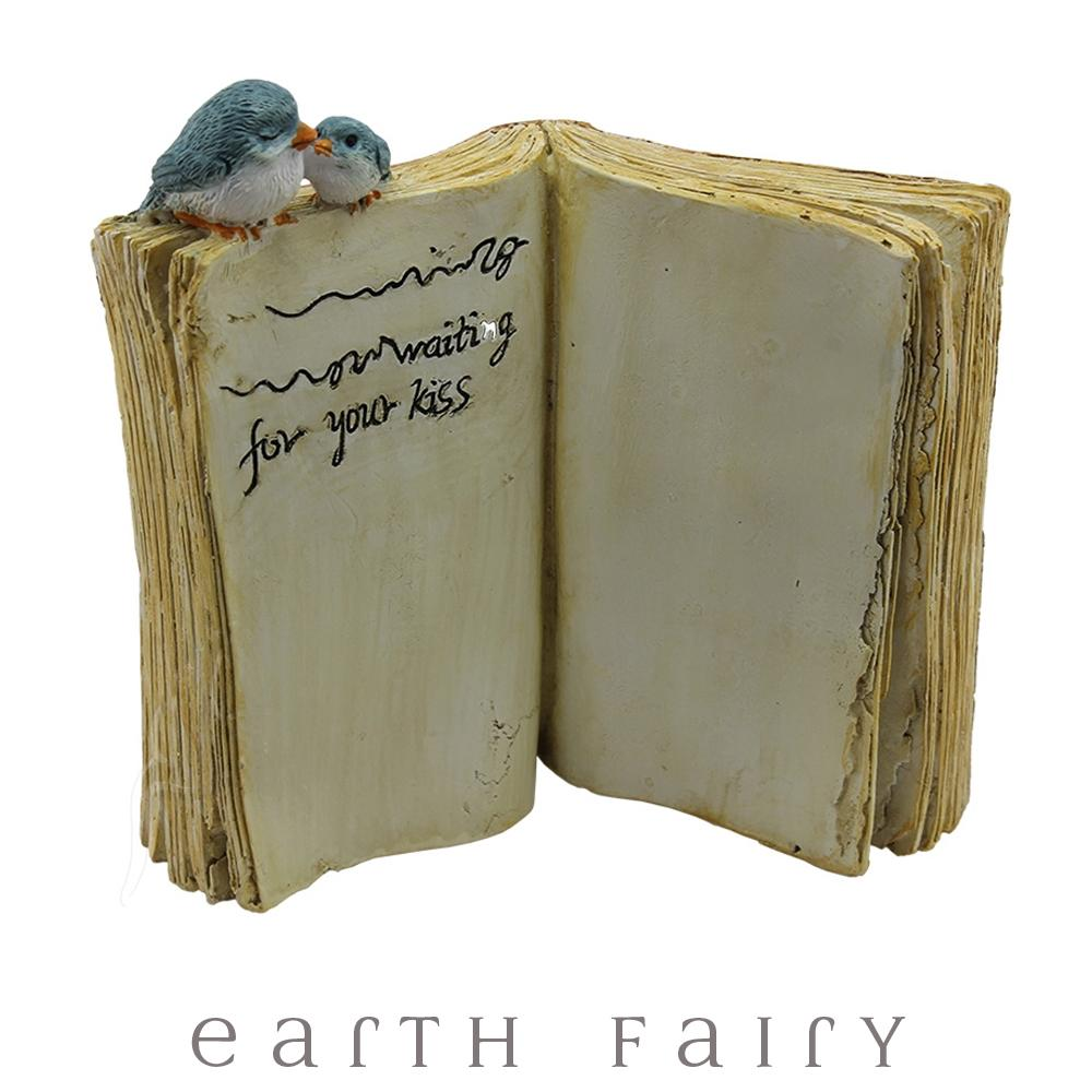 Bluebird with Song Book | Fairy Gardens & Collectible Miniatures | Earth Fairy