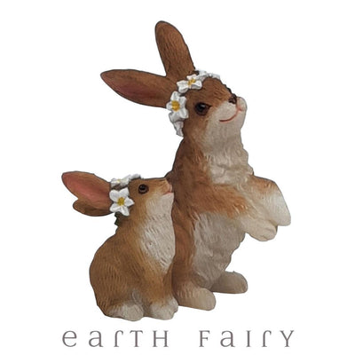 Mama & Baby Rabbits | Fairy Garden Animals - Australia | Earth Fairy