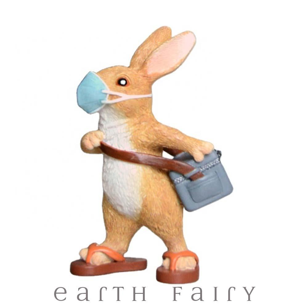 Masked Messenger Rabbit from The Fairy Garden Miniature Collection by Earth Fairy