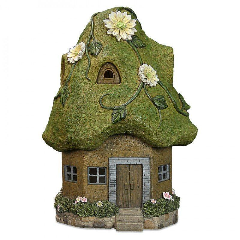Fairy Houses Moss Fairy House - Solar Earth Fairy