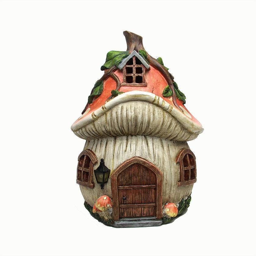 Fairy Houses Mushroom Fairy House - Solar Earth Fairy