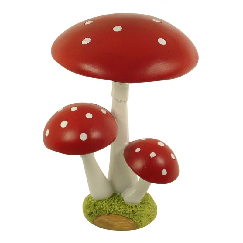 Mushroom - Triple - 17.5cm | Fairy Mushrooms - Australia | Earth Fairy