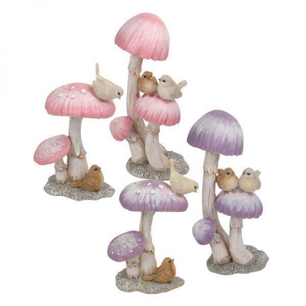 Mushrooms with Little Birds | Fairy Gardens - Australia | Earth Fairy