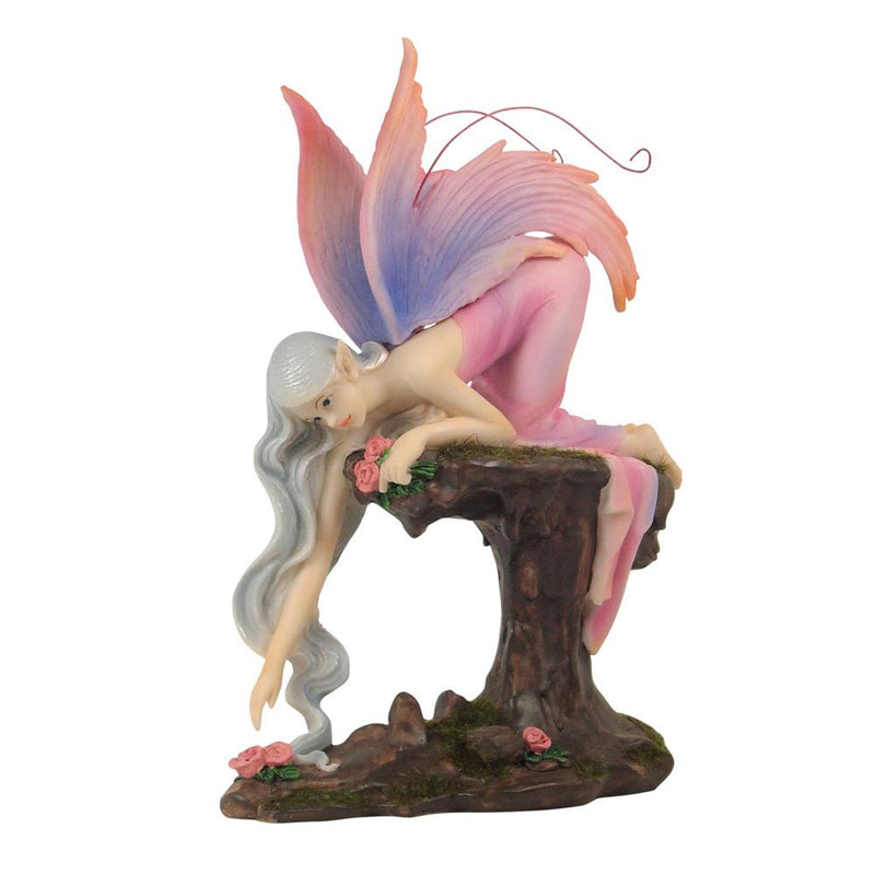 Mystic Flower Fairy - Kneeling | Fairy Garden Figurines - Australia | Earth Fairy