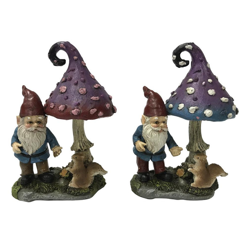 Mystic Mushroom with Gnome and Squirrel, from The Miniature Gnome Figurine Collection by Earth Fairy