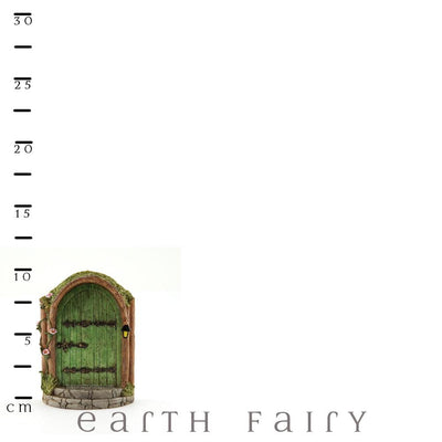 Mystical Green Fairy Door with Scale Ruler | Fairy Garden Doors & Windows - Australia | Earth Fairy