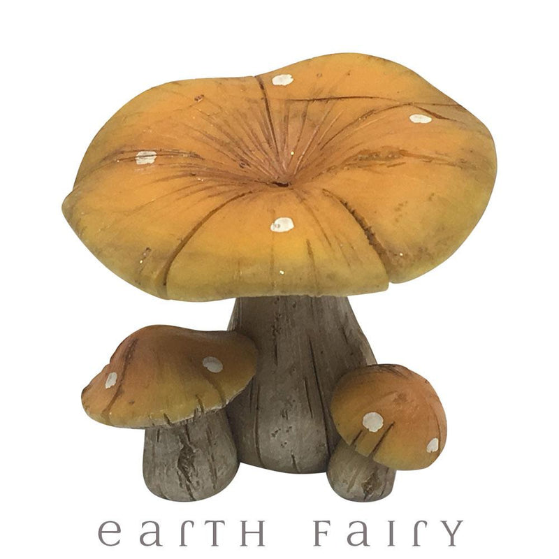 Natural Mushrooms - Set of 2, from The Magical Fairy Garden Mushroom Collection by Earth Fairy