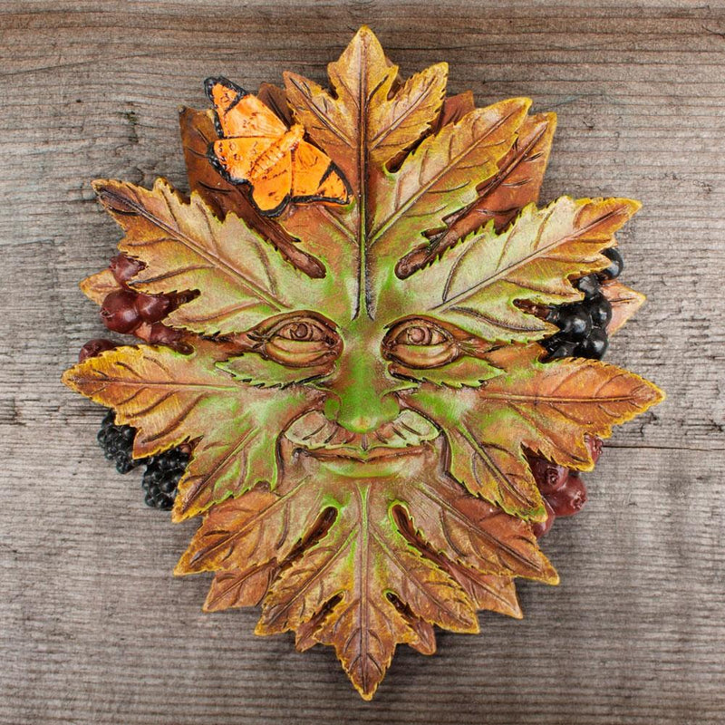 Nature Greenman Wall Plaque | Fairy Inspired Gifts & Decor | Earth Fairy