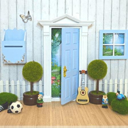 Fairy Doors Opening Fairy Door Starter Set Blue & White Earth Fairy
