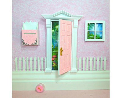 Fairy Doors Opening Fairy Door Starter Set Peaches & Cream - Glitter Earth Fairy