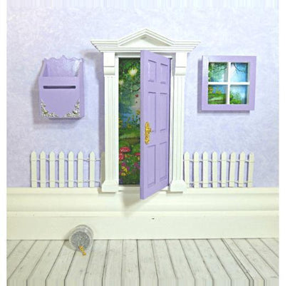 Fairy Doors Opening Fairy Door Starter Set Purple & White Earth Fairy