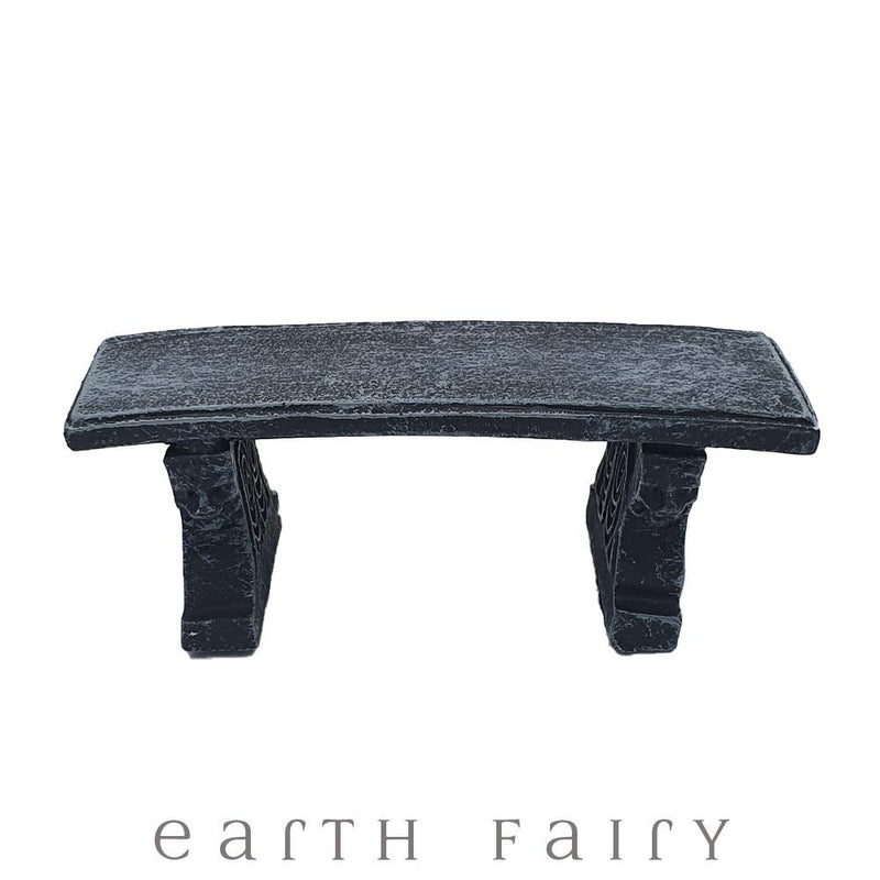 Stone Garden Seat | Fairy Garden & Doll House Miniatures - Australia | Earth Fairy