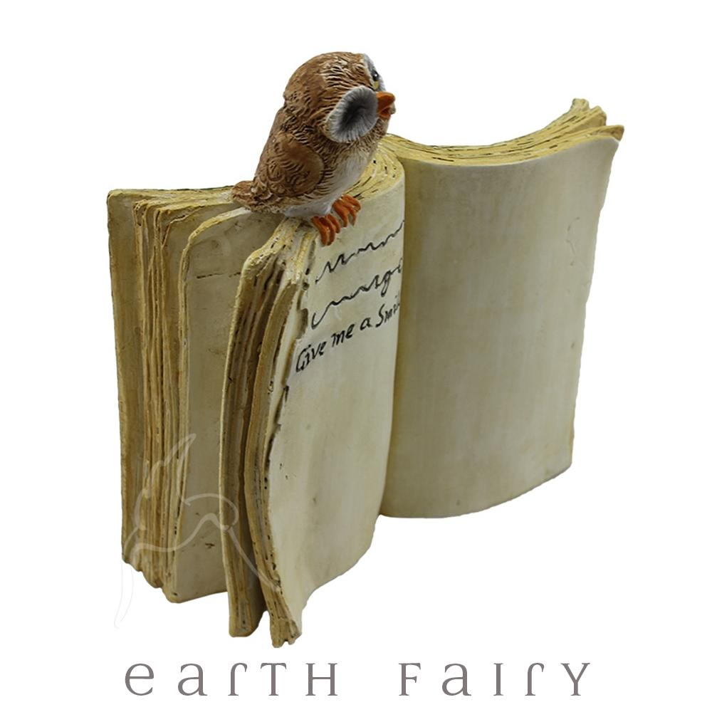 Owl on a Book | Fairy Gardens & Miniatures - Australia | Earth Fairy