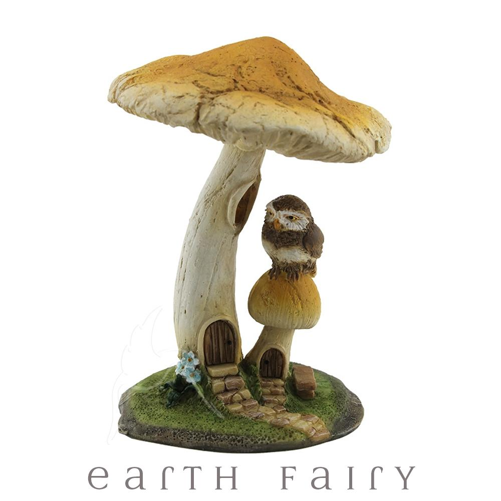 Owl Under a Mushroom | Fairy Gardens & Miniatures - Australia | Earth Fairy