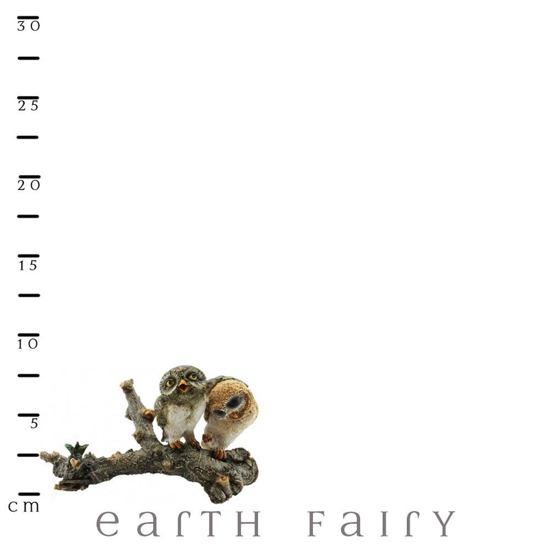 Owls on a Log | Fairy Gardens & Collectible Miniatures | Earth Fairy