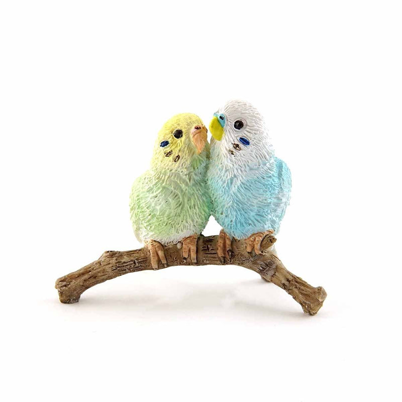 Pair of Budgerigars on a Branch