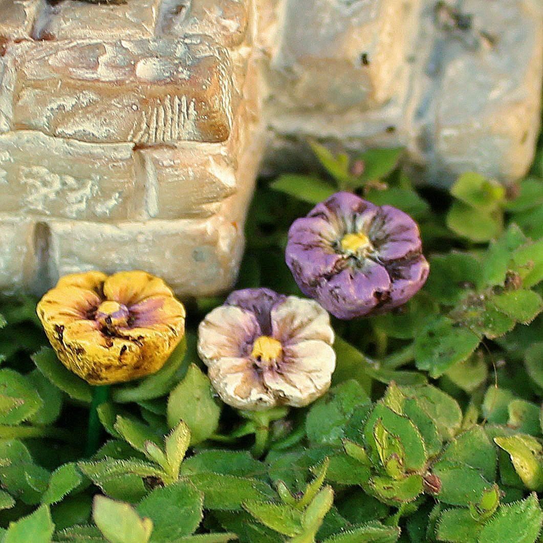 Fairy Gardens Pansy Picks - Set of Three Earth Fairy