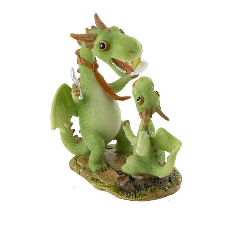 Papa & Baby Dragon Eating Cake | Fairy Gardens - Australia | Earth Fairy