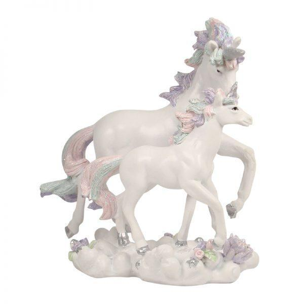 Fairy Gardens Pastel Rainbow Pair of Unicorns Earth Fairy
