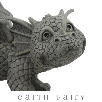 Peeing Dragon Garden Statue, Close Up, from The Dragon Figurine Collection by Earth Fairy