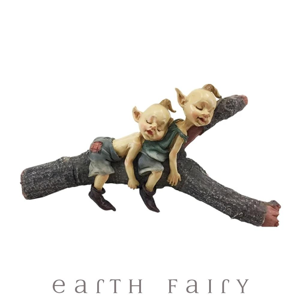 Pixies Sleeping on a Branch | Fairy Garden Figurines - Australia | Earth Fairy