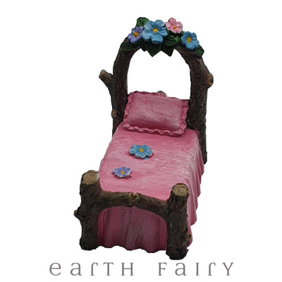 Miniature Fairy Bed from The Fairy Garden Furniture Collection by Earth Fairy