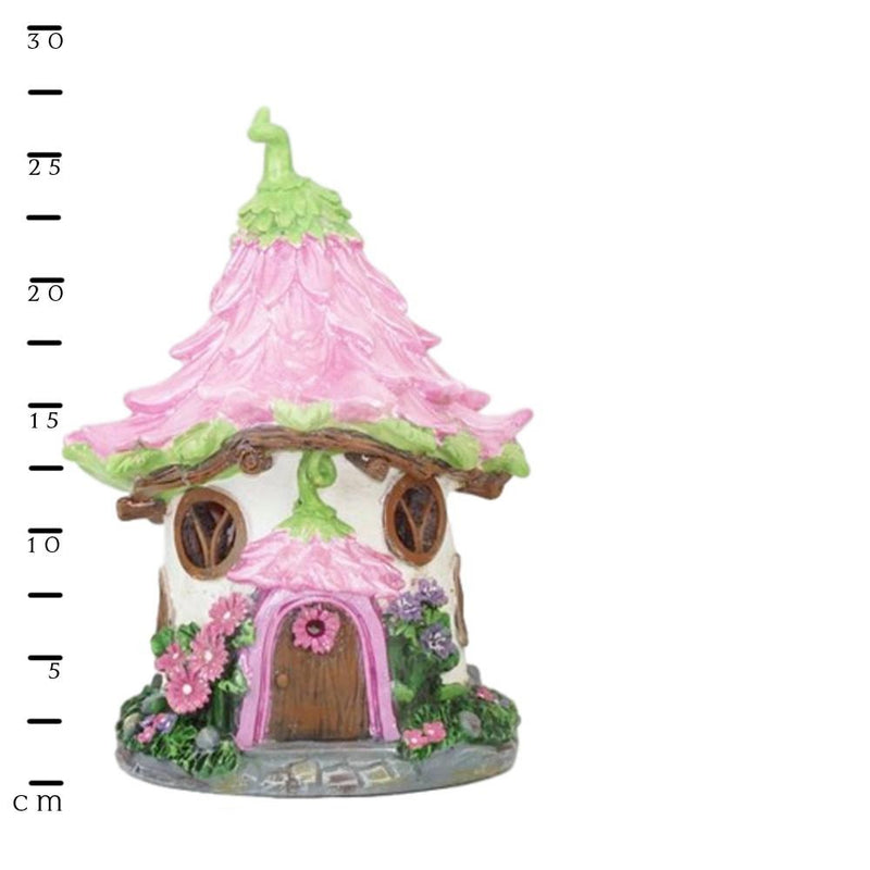 Pretty Pink Flower House - Solar | Fairy Garden Houses - Australia | Earth Fairy