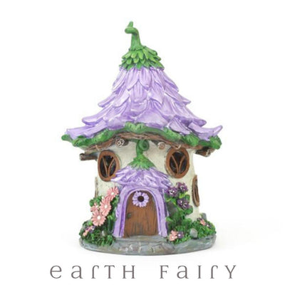 Pretty Purple Flower House - Solar | Fairy Garden Houses - Australia | Earth Fairy