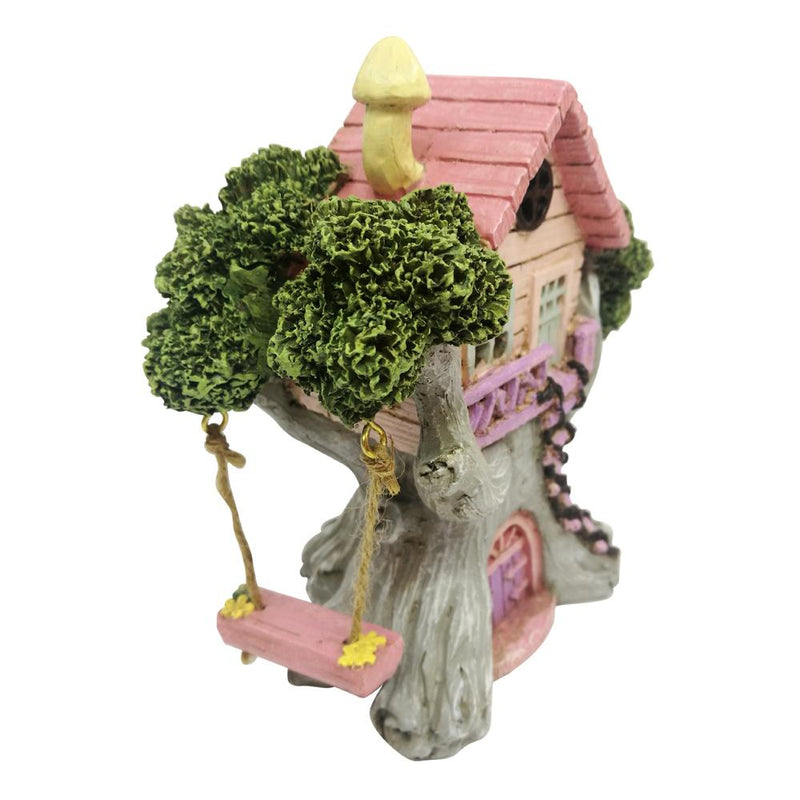 Pretty Tree House with Swing - LED | Fairy Houses - Australia | Earth Fairy