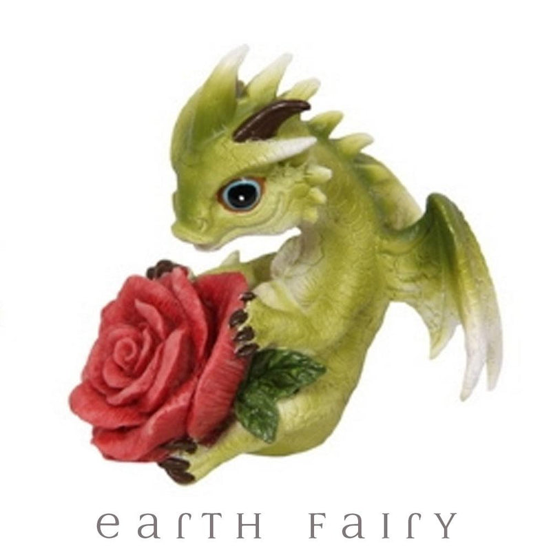 Puff Love Dragon with Rose