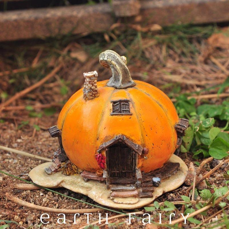 Pumpkin Fairy House, from The Mini Fairy House Collection by Earth Fairy