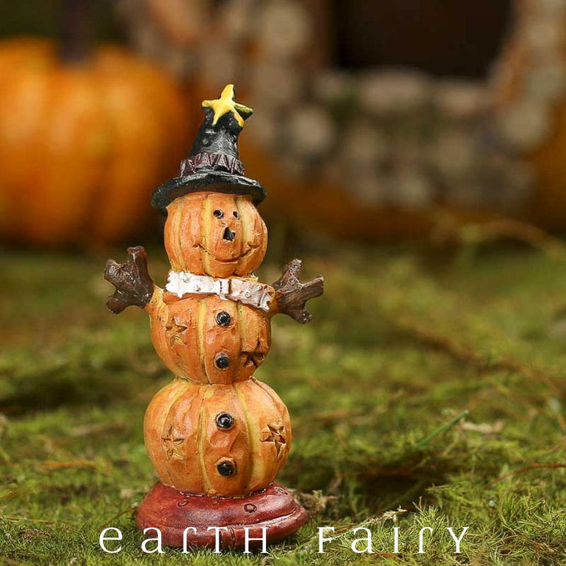 Miniature Pumpkin Scarecrow from the Fairy Garden Miniature Halloween Collection by Earth Fairy
