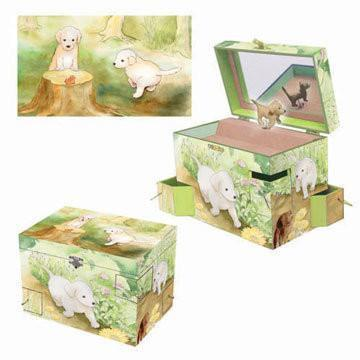 Room Accents Puppy Love Music Box Earth Fairy