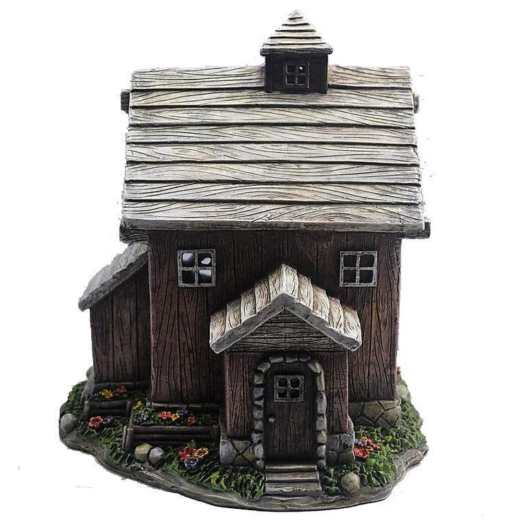 Fairy Gardens Quaint Wooden Cottage - Solar Earth Fairy