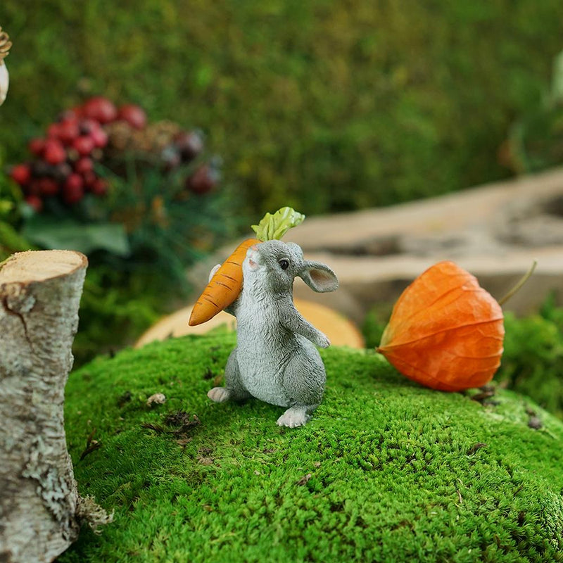 Rabbit Holding a Carrot | Fairy Garden Figurines | Earth Fairy
