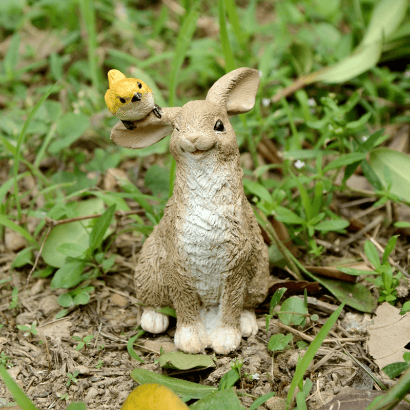 Rabbit Playing with Bird | Fairy Gardens | Earth Fairy
