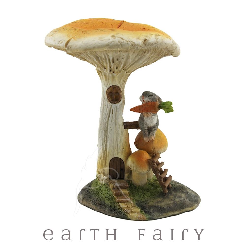 Rabbit Under a Mushroom | Fairy Gardens & Miniatures - Australia | Earth Fairy