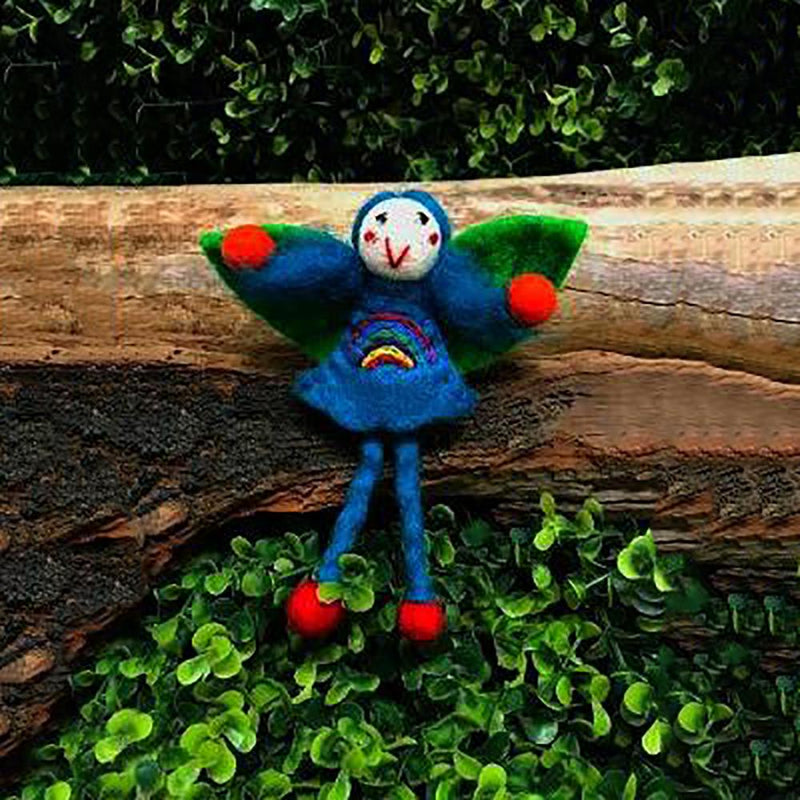 Rainbow Faery - Large | Hand Felted Toys - Australia | Earth Fairy