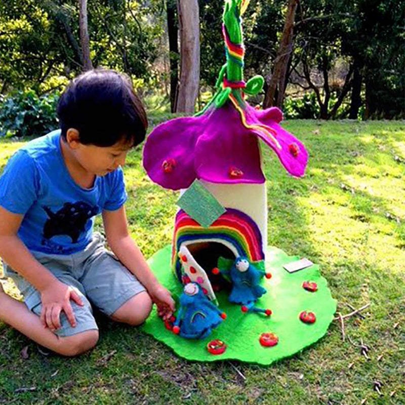 Rainbow Faery Home - Super Large | Hand Felted Wool Toys - Australia | Earth Fairy