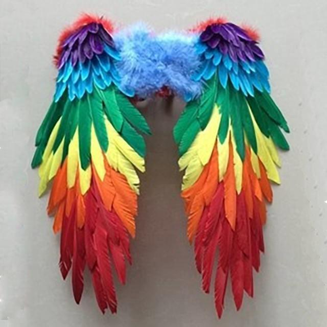 Fairy Finery Rainbow Feather Wings Large Earth Fairy
