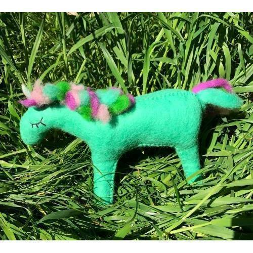 Fairy Play Rainbow Shimmer Unicorn - Large | Fairy Play - Felt Toys Australia | Earth Fairy