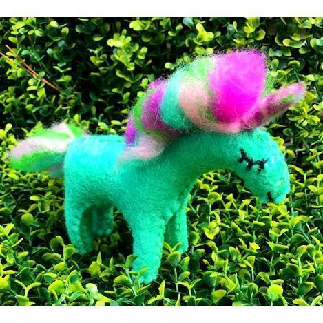 Fairy Play Rainbow Shimmer Unicorn - Small | Fairy Play - Felt Toys Australia | Earth Fairy