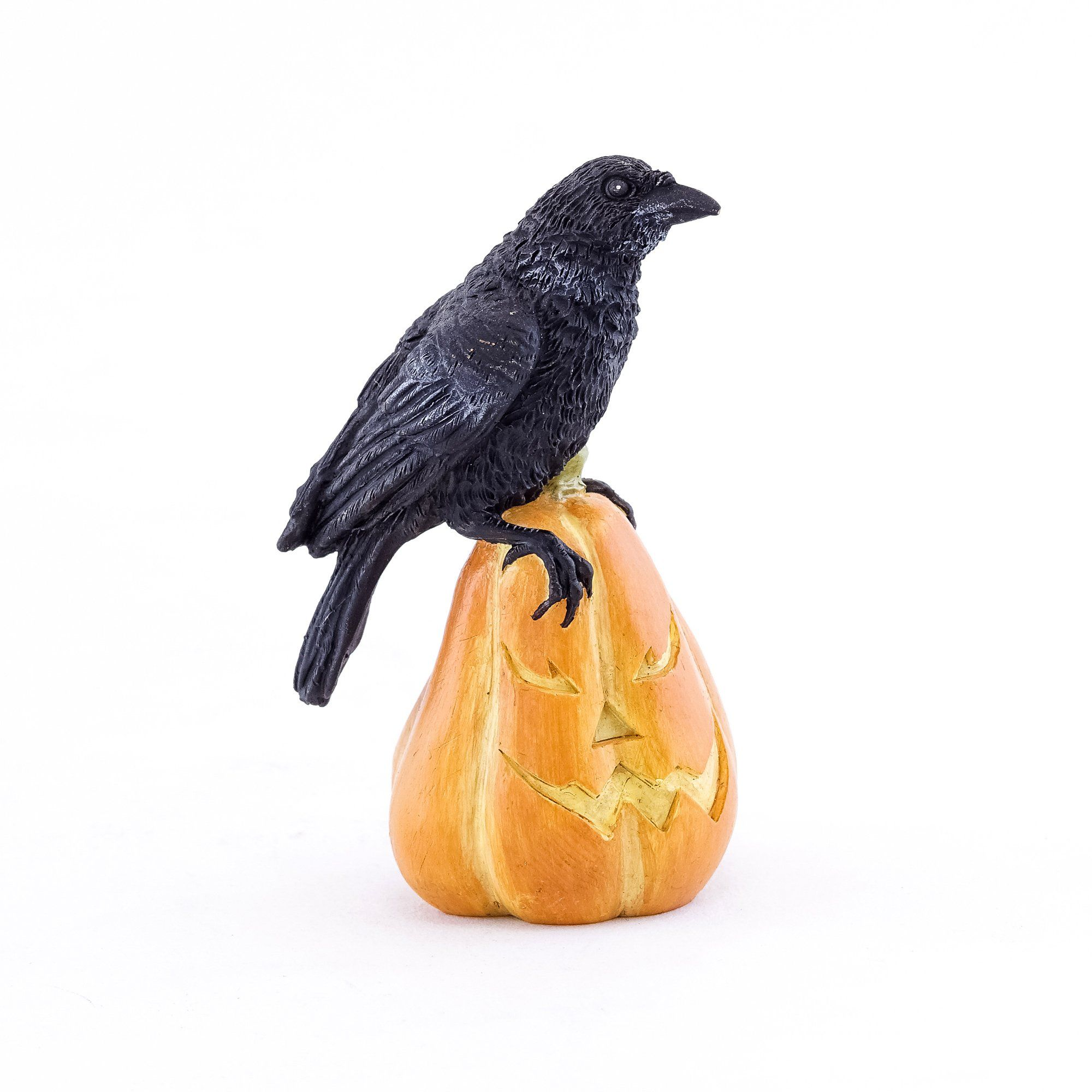 Raven on Jack o' Lantern | Fairy Garden Animals - Australia | Earth Fairy