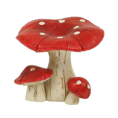Fairy Gardens Red Mushroom - 5cm Cluster of Three Earth Fairy