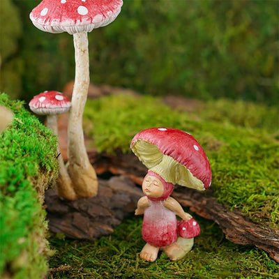 Red Shroom Baby | Fairy Garden Figurines - Australia | Earth Fairy