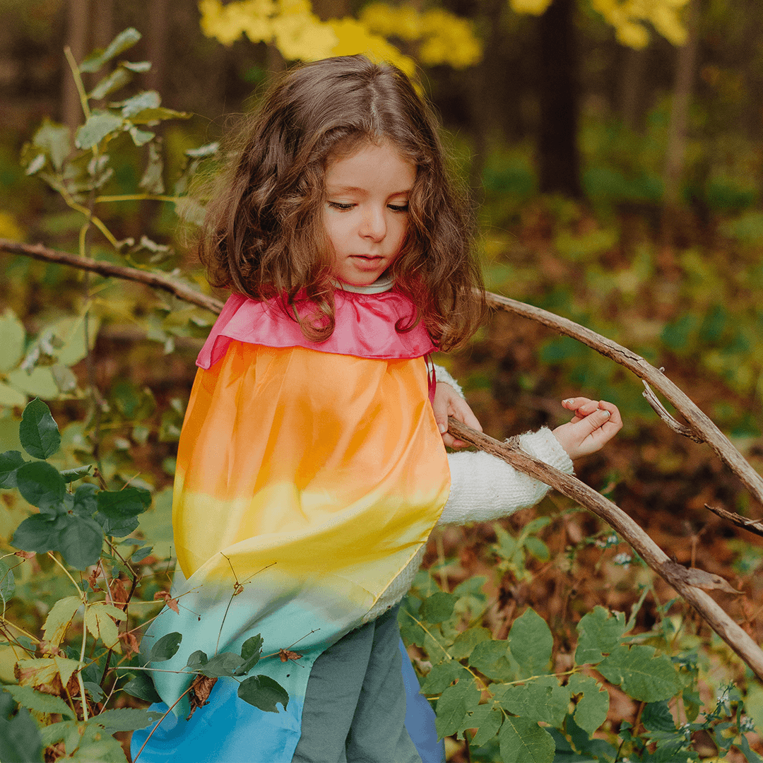 Reversible Cape - Rainbow | Fairy Finery | Earth Fairy