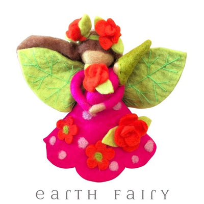 Rosie Faerymother, Large, from The Wool Felted Toy Collection by Earth Fairy