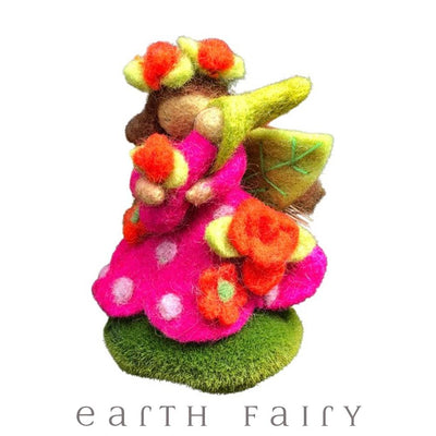 Rosie Faerymother, Small, from The Wool Felted Toy Collection by Earth Fairy