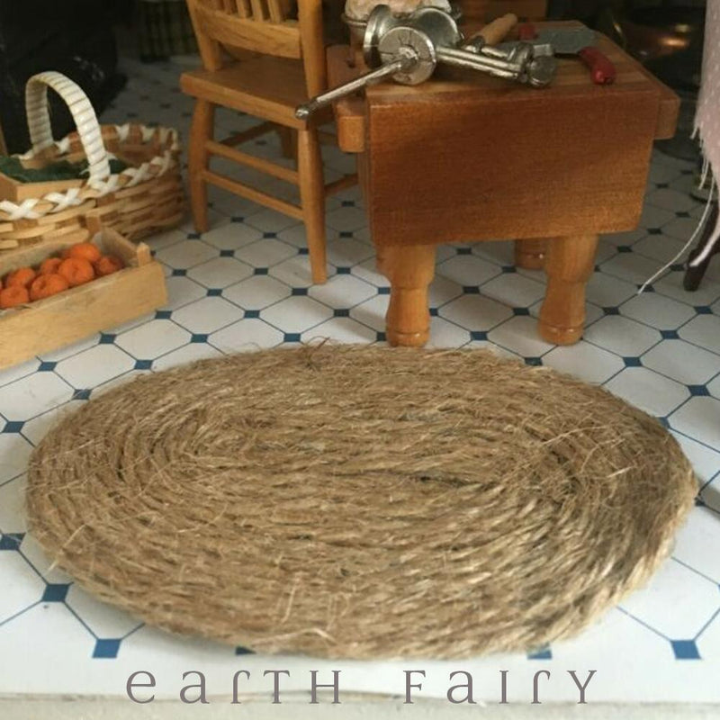 Miniature Rush Mat, from The Fairy Garden Accessory Collection by Earth Fairy